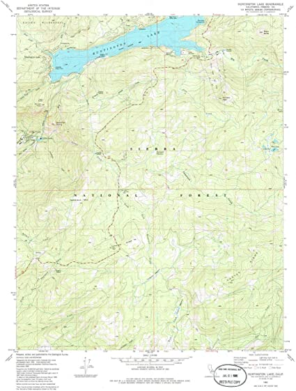 Amazon Com Yellowmaps Huntington Lake Ca Topo Map 1 24000 Scale 7 5 X 7 5 Minute Historical 1982 Updated 1986 26 7 X 21 9 In Paper Sports Outdoors