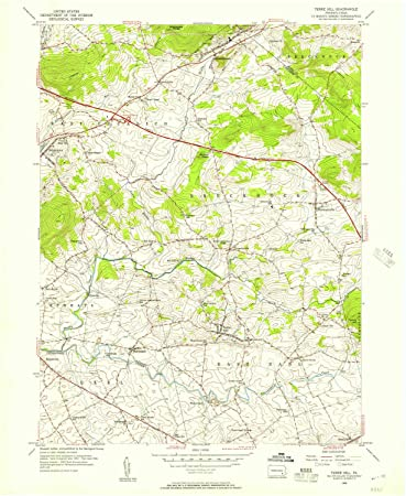 Hill Topographic Map.Amazon Com Yellowmaps Terre Hill Pa Topo Map 1 24000 Scale 7 5 X