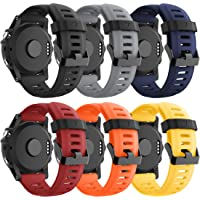 CSVK Compatible with Fenix 3 Fenix 5X Fenix 6 Watch Band, Soft Silicone Replacement Watch Accessory Strap for Fenix 3…