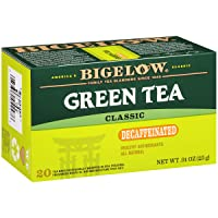 Bigelow Decaffeinated Green Tea Bags, 20 Count Box (Pack of 6) Decaf Green Tea,...