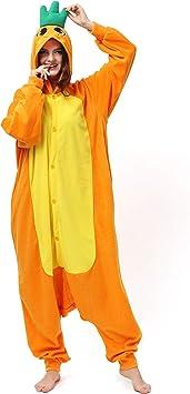 Katara- Pijamas Enteros Diferentes Animales y Tamaños, Adultos Unisex, Color Zanahoria Naranja, Talla 145-155cm (1744)