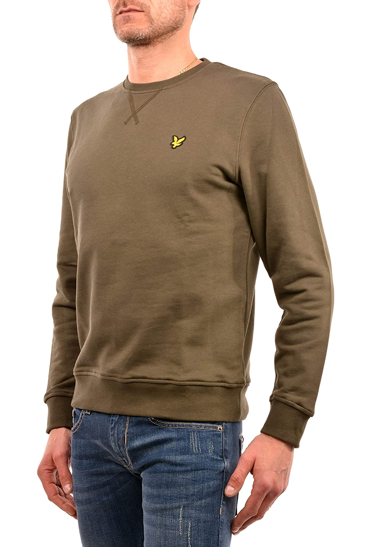 Gr/ün Lyle /& Scott Herren Logo-Sweatshirt