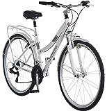 Schwinn Discover Hybrid Bike for Men and Women, 21 Speed, 28-Inch Wheels, Step-Through or Step-Over Frame, Multiple…