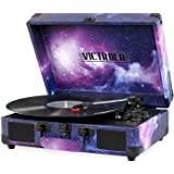 Victrola Record Player Vintage 3-Speed Bluetooth Suitcase Turntable with Speakers
