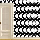 ufengke® Geometrico Formas Carta Da Parati Piazza Adesivi Murali Moda Design Arte Adesivi Da Parete Decorazione Camera Nero