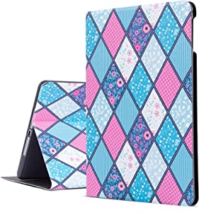 iPad Air 2 Case, iPad Air Case, Blue Geometric iPad 9.7 Case Protective Cover for iPad 5th/6th Generation, Multi-Angle Viewing Case with Adjustable Stand Auto Wake/Sleep(Multicoloured Geometry)