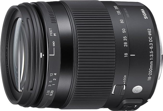 Sigma 18-200mm F3,5-6,3 DC Macro OS HSM Contemporary Objektiv (62mm Filtergewinde) für Sony A-Objektivbajonett