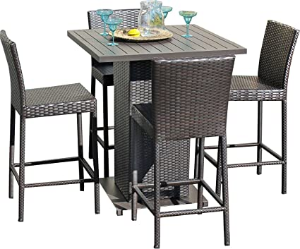 Surprising Tk Classics Napa Pub Withback 4 5 Piece Napa Pub Table Set With Barstools Outdoor Wicker Patio Furniture Home Interior And Landscaping Fragforummapetitesourisinfo