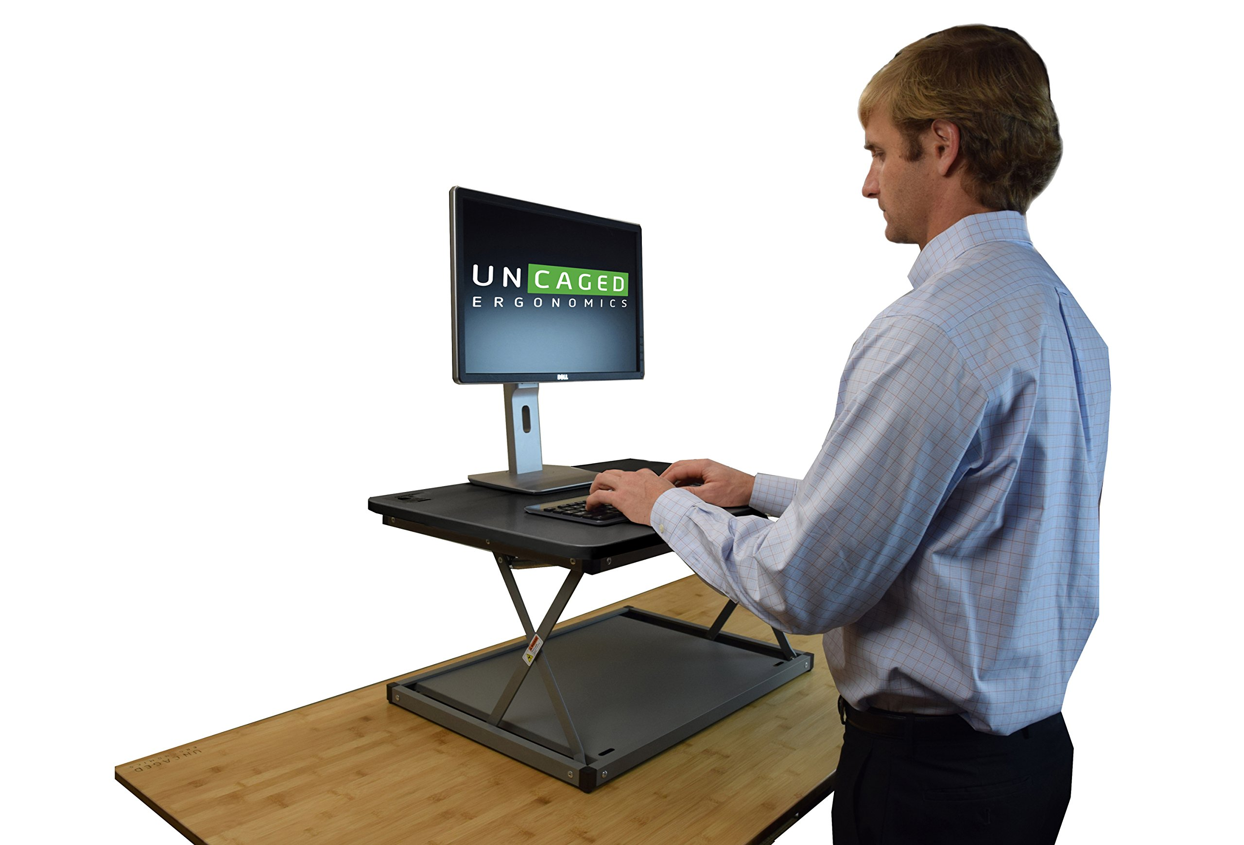 CHANGEdesk Mini Small Adjustable Height Standing Desk Converter for Laptop MacBook Single Monitor Desktop Computer Portable Lightweight Ergonomic sit Stand up Corner Riser Affordable Compact Tabletop by Uncaged Ergonomics (Image #9)