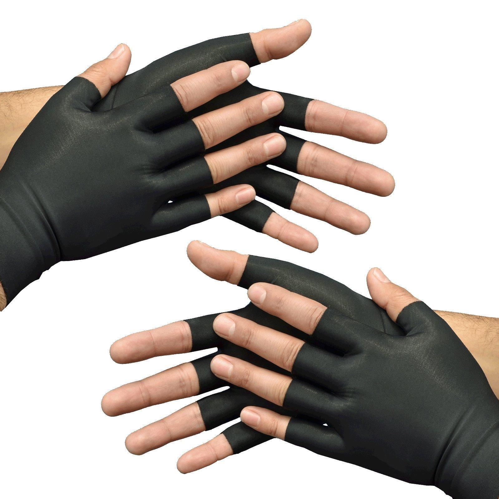 Medipaq Anti-Arthritis Health Therapy Gloves 2X Pairs Large Black