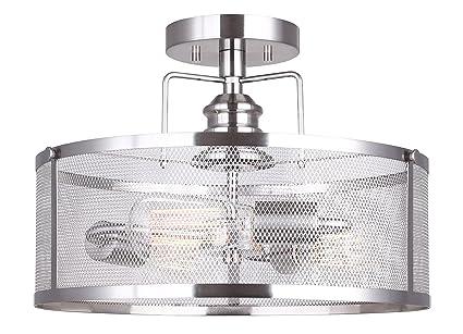 amazon com canarm isf626a03bn beckett 3 bulb semi flush mount with