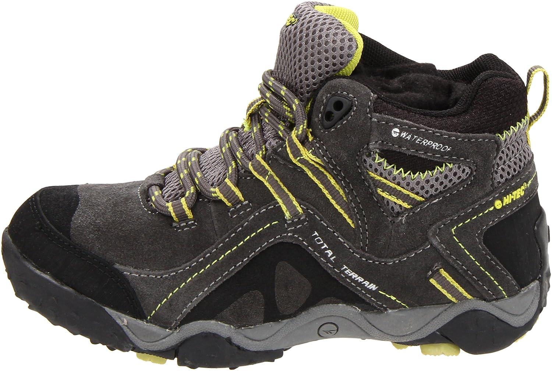 Hi-Tec TT Mid Waterproof Adventure Sport Shoe (Toddler/Little Kid/Big Kid) Grey/Black/Chartreuse 1 M US Little Kid TT Mid WP JR 520112-9433085