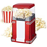 mini chef electric tandoor Classic Style Popcorn Maker Jumbo Size for Large Quantity (Red)