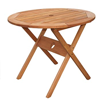 Amazonia Bistro Folding Eucalyptus Table