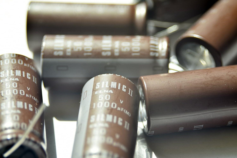 4 pcs Elna SILMILC II Capacitors 50V 330uf Elna Silmic II