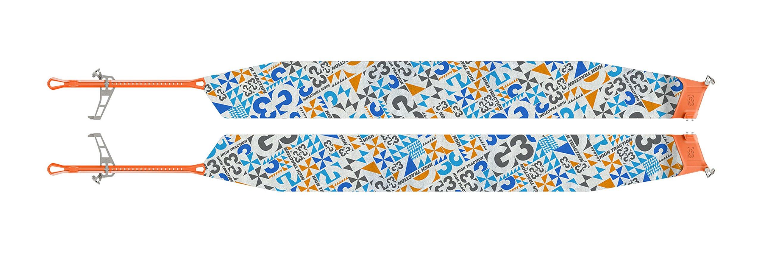 G3 Alpinist Splitboard High Traction Skins - S/M - Blue/Grey/Orange