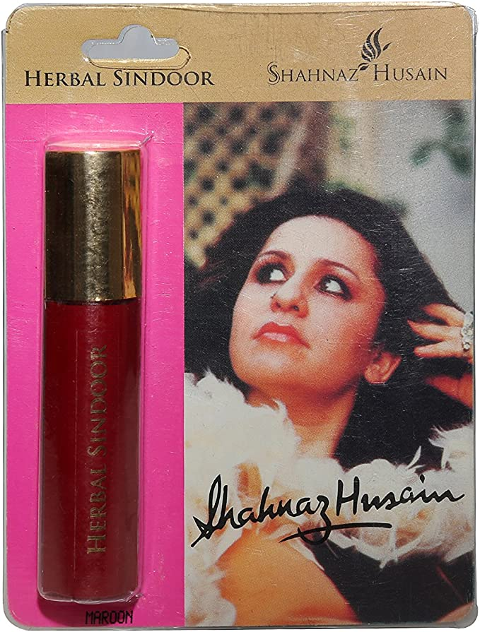 Shahnaz Husain Herbal Liquid Sindoor (0.3 fl oz / 9 ml) (Maroon) Lip Make-up at amazon