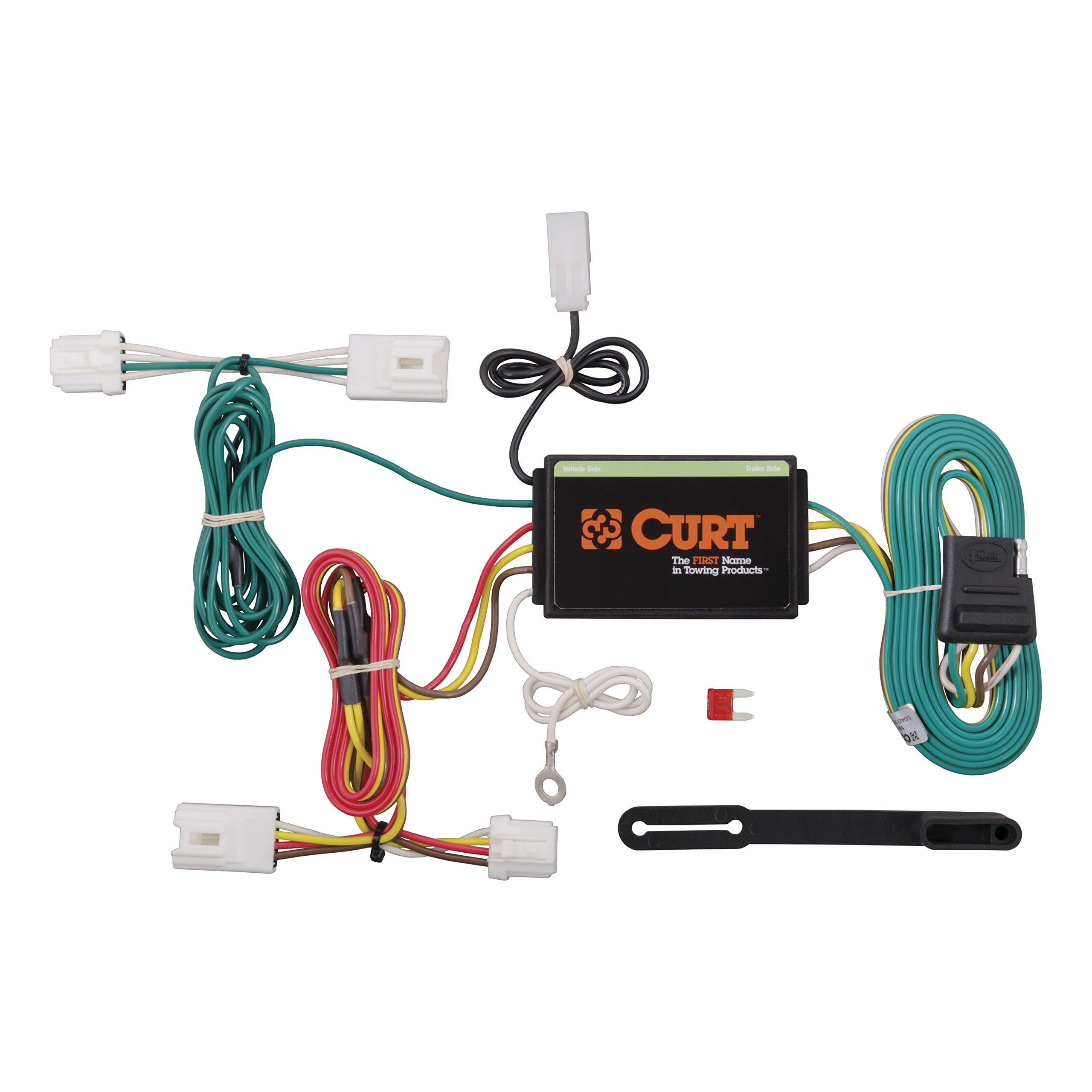 CURT 55571 Vehicle-Side Custom 4-Pin Trailer Wiring Harness for Select Nissan Murano by Curt Manufacturing