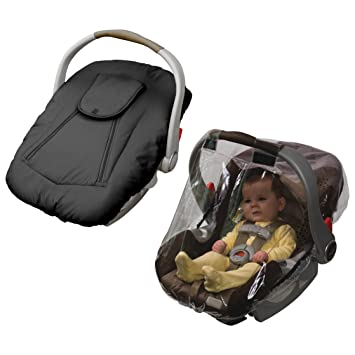 Sensational Jolly Jumper Arctic Sneak A Peek Infant Car Seat Cover With Car Seat Rain Cover Black Uwap Interior Chair Design Uwaporg