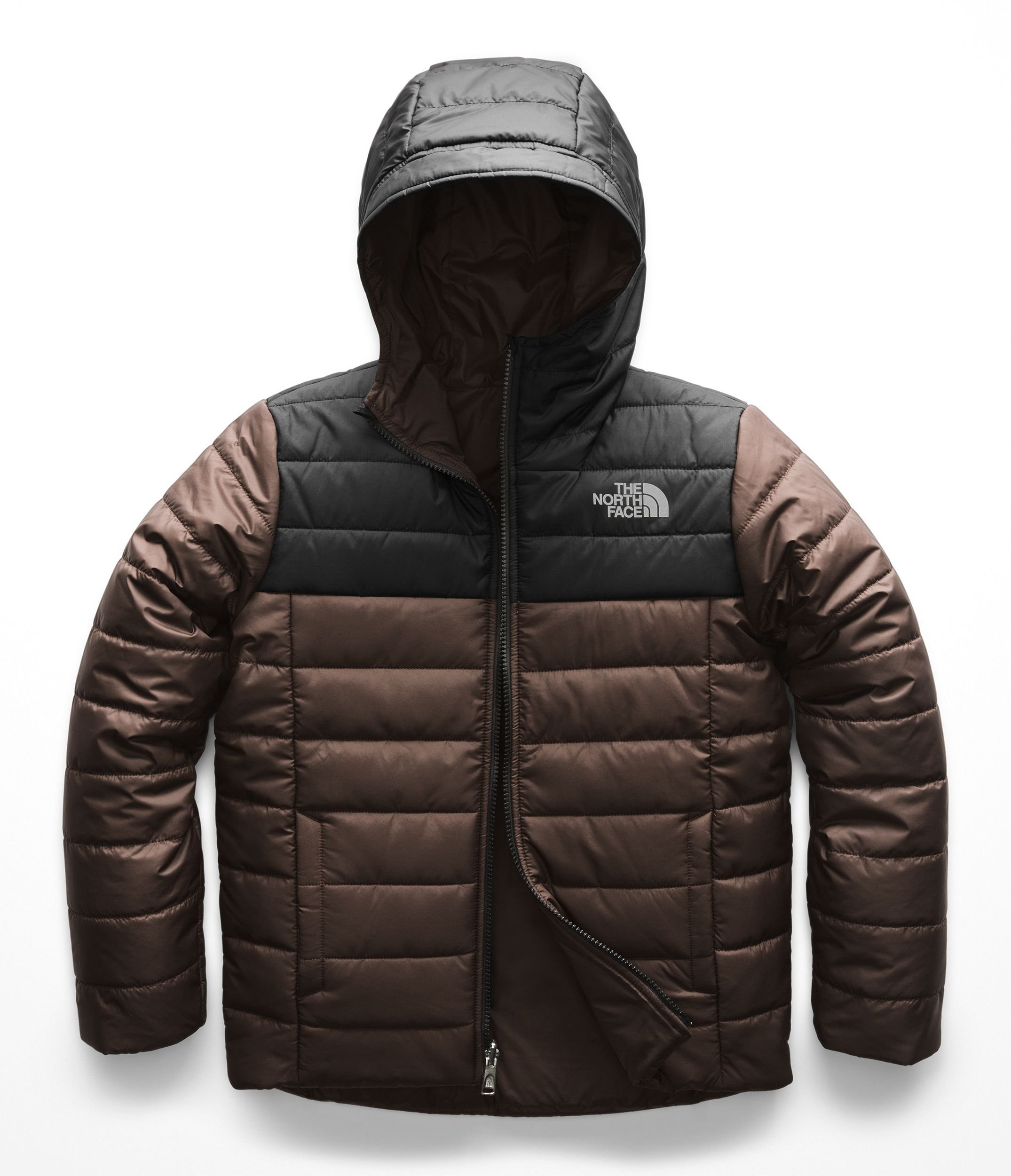 The North Face Kids Boy's Reversible Perrito Jacket (Little Kids/Big Kids) Brownie Brown Large