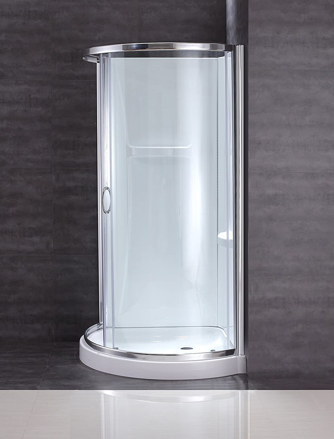 97ac55399be Ove Decors Breeze 31 withwalls Premium 31-Inch Shower Kit with Acrylic Base  and Walls and Clear Glass Sliding Door - Shower Installation Kits -  Amazon.com