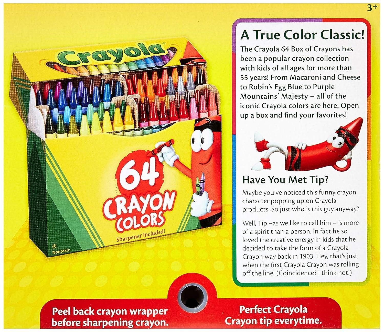 amazon com crayola 2 pack 64 ct crayons 52 0064 toys games