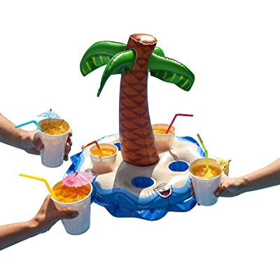 BigMouth Inc Inflatable Palm Tree Multi-Drink Float, Floating Drink Holder for Pools, Hot Tubs, Lakes: Toys & Games [5Bkhe0506243]