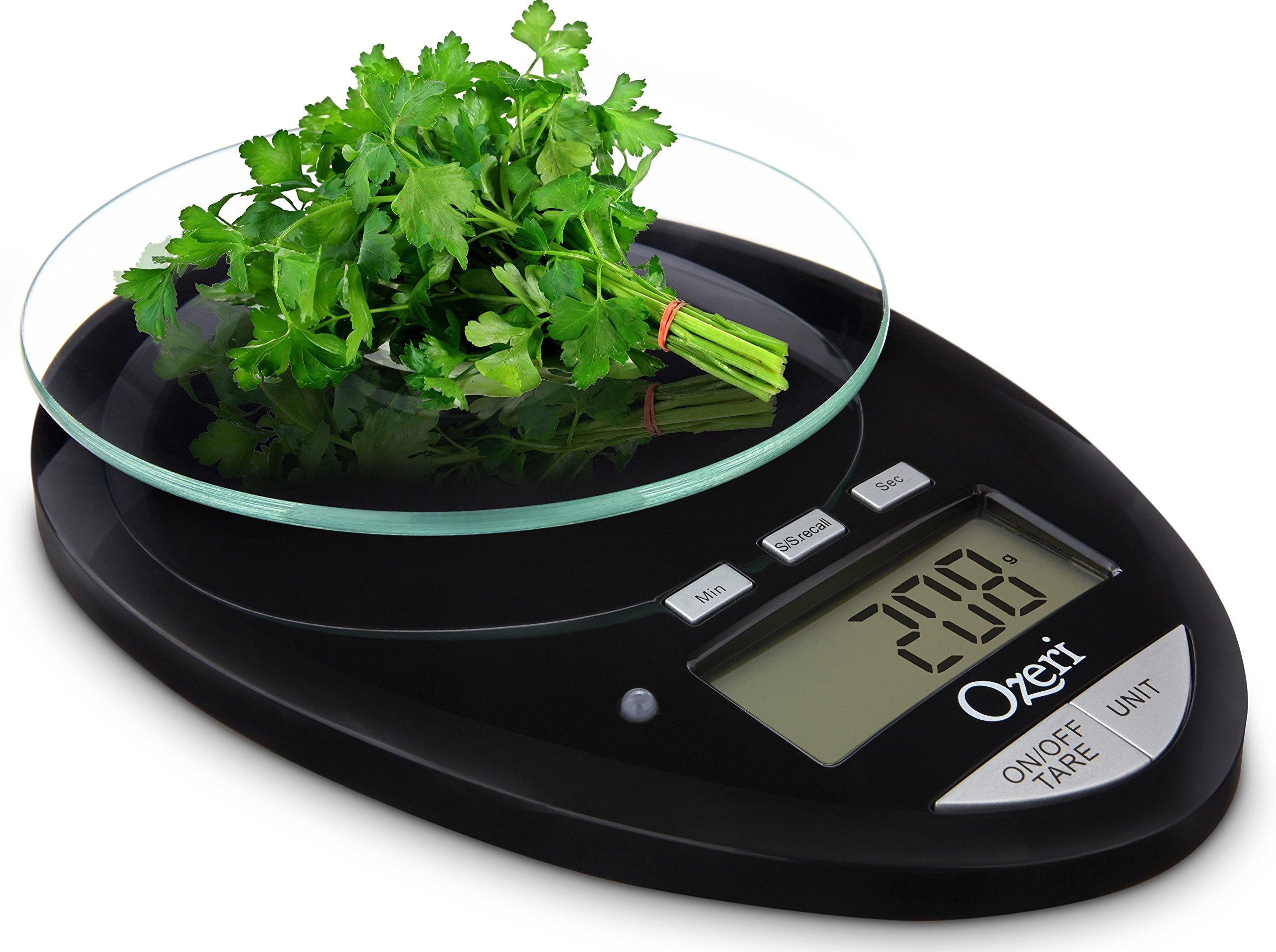 Ozeri Pro II báscula de cocina Digital, 1g a 12 lbs/5,5