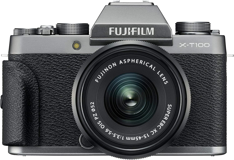 Fujifilm X T100 System Camera Dark Silver Camera Photo