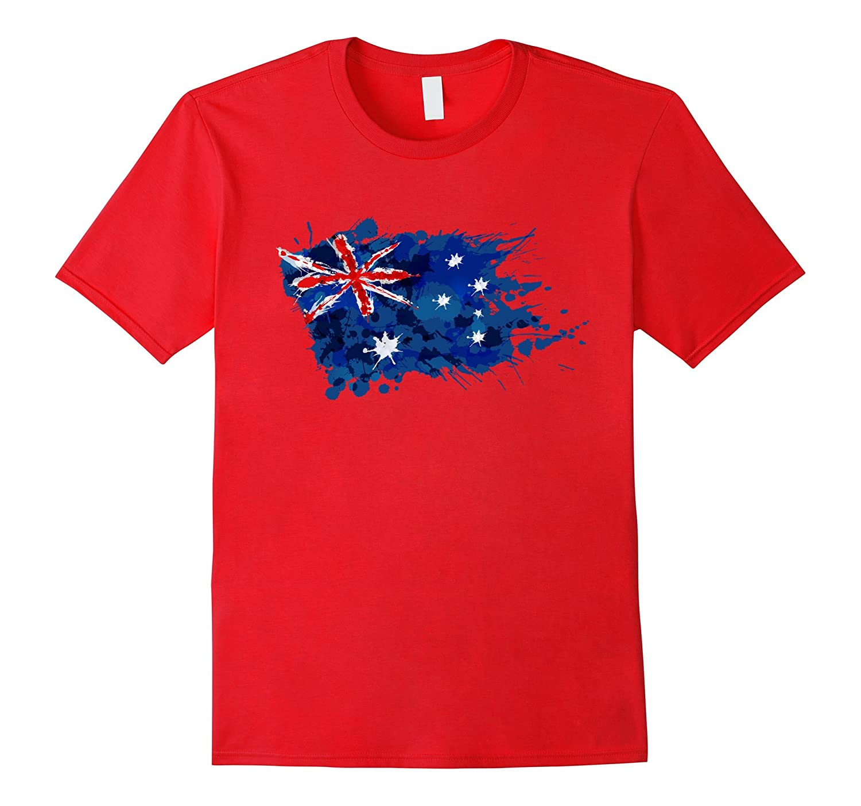 Australia Splash Flag Tourist T-Shirt-Art