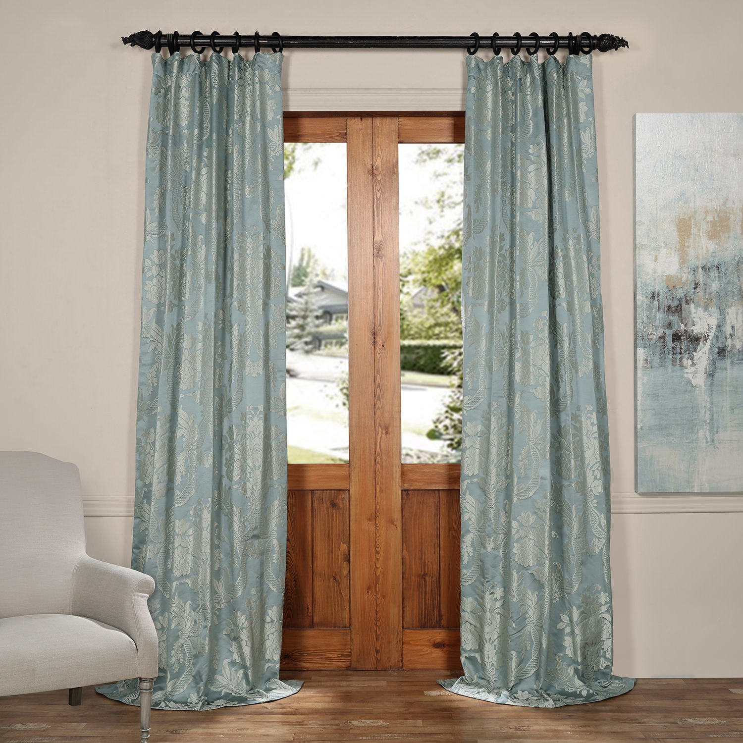 drapes faux treatment floral embroidered addison p window silk panel v curtain