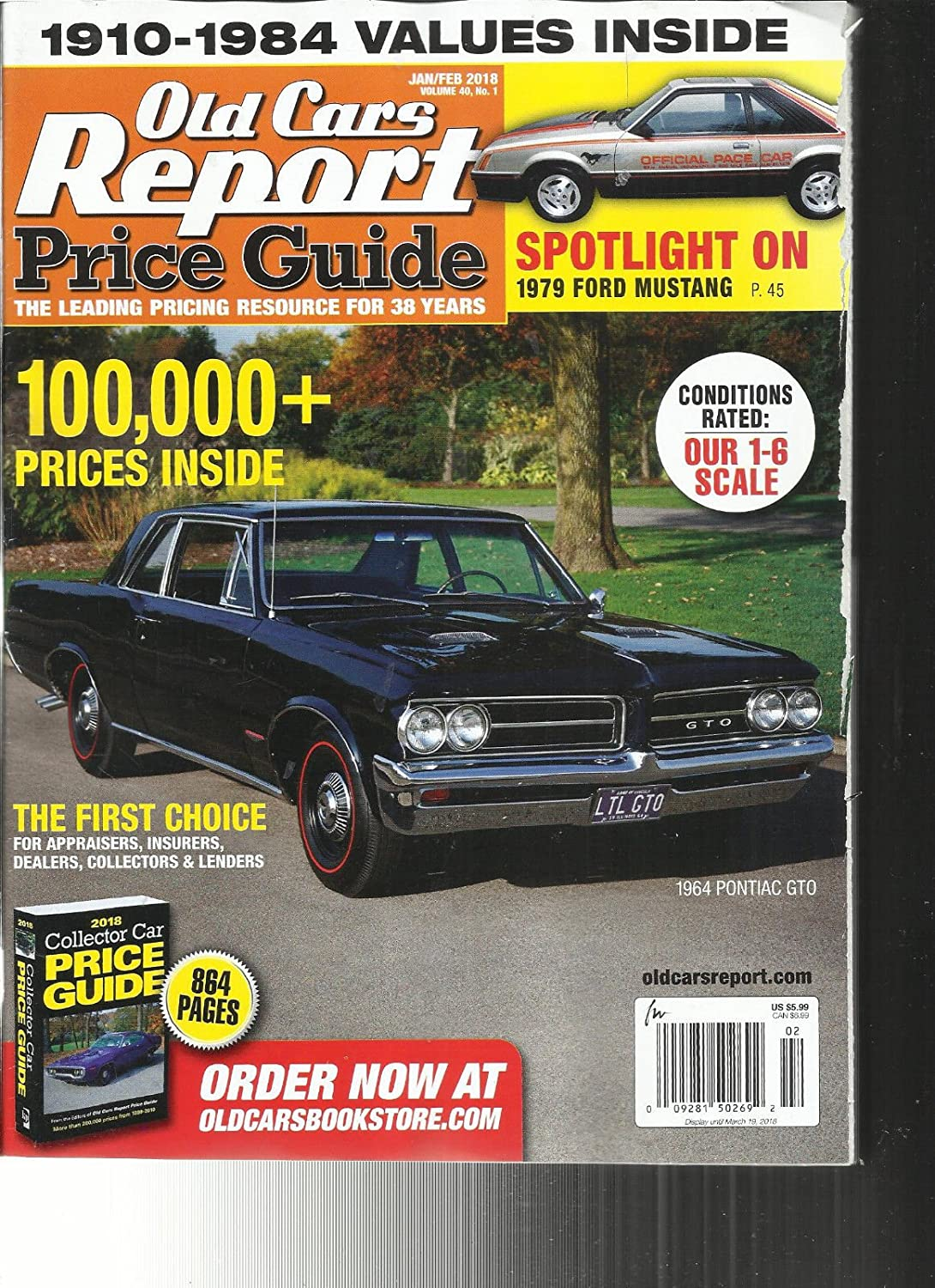 OLD CARS REPORT PRICE GUIDE MAGAZINE, JANUARY / FEBRUARY, 2018 VOL. 40 NO.1 s3457