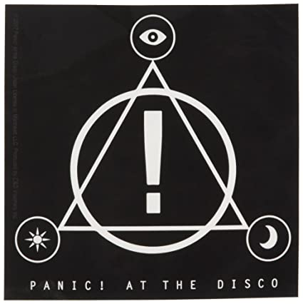c d visionary panic at the disco triangle logo sticker