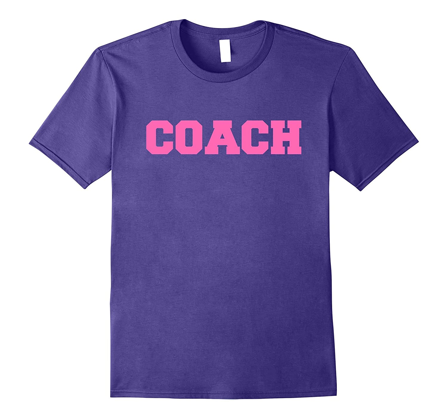 Hot Pink Lettered Coach T-Shirt for Sports Coaches-FL