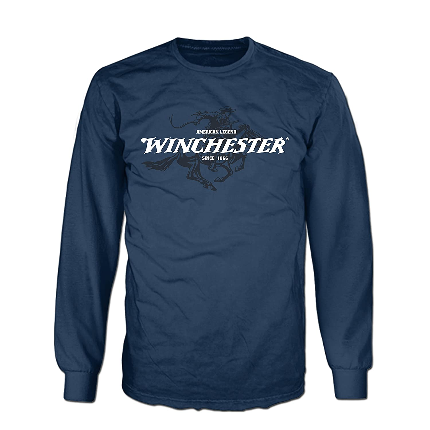 7f77558d ... Celebrate 150 years of Legendary Excellence & own this iconic brand  Winchester screen printed graphic long sleeve tee thats perfect for all day  comfort
