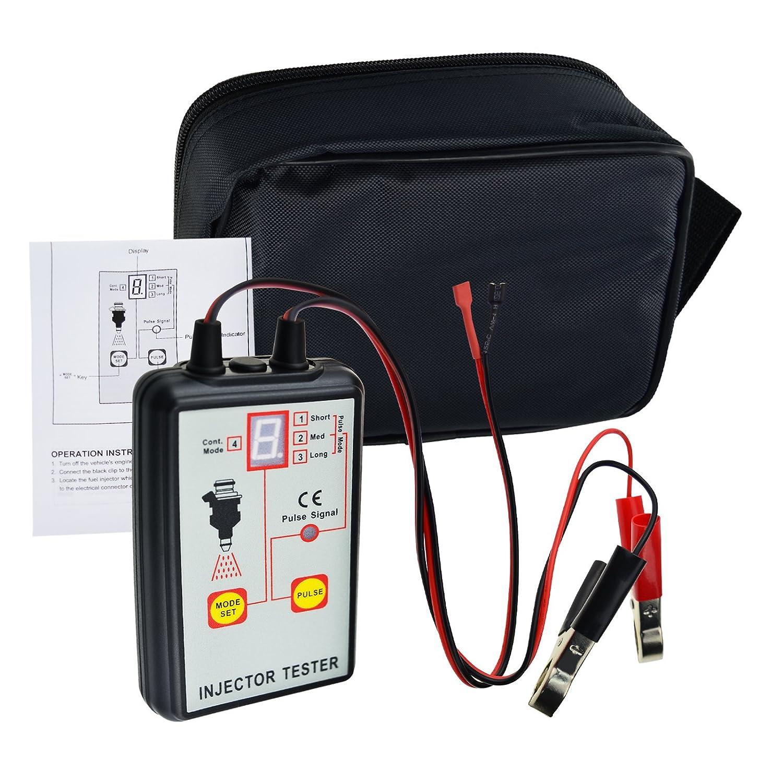 Nuova e migliorata 12/V veicolo batteria auto strumento diagnostico automobilistico pompa iniezione carburante iniettore tester per dispositivi test Tool 4/modi per Stuck Leaking burnt-out condizione