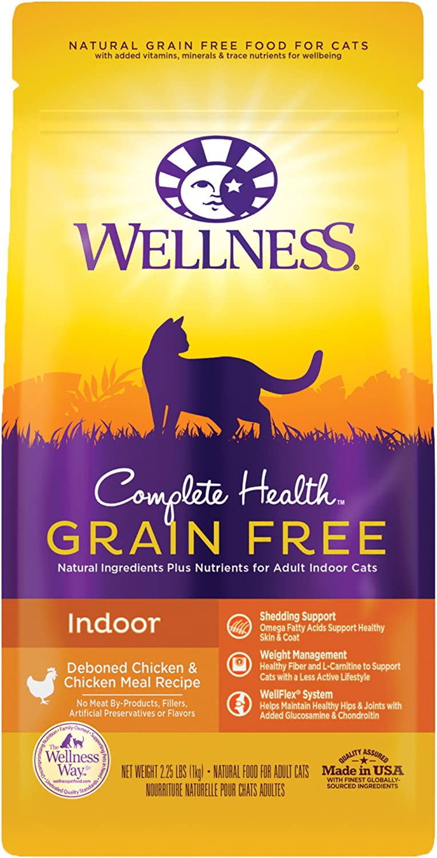 Wellness Complete Health Grain-Free Indoor Deboned Chicken Recipe Dry Cat Food, 2.25 Pound Bag
