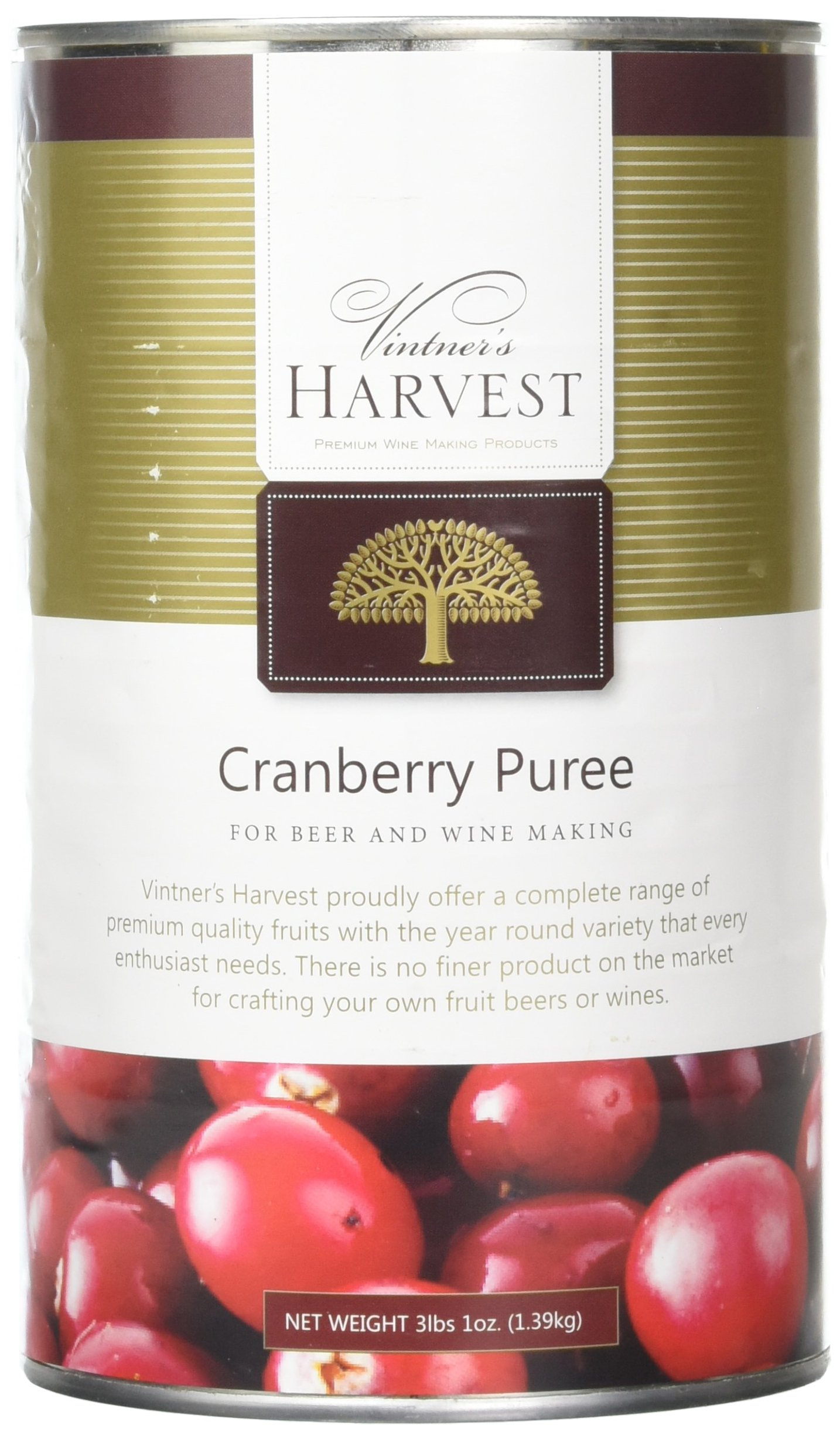 Home Brew Ohio Vintner's Harvest Fruit Puree-Cranberry 49 oz