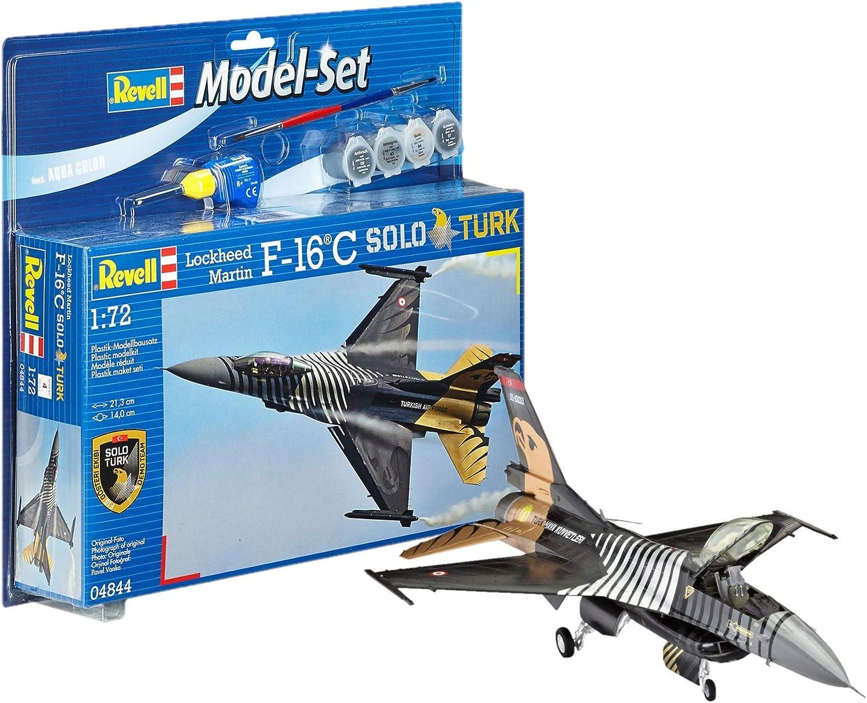 Revell - Maqueta Modelo Set F-16 C Solo Türk, Escala 1:72 (64844): Amazon.es: Juguetes y juegos