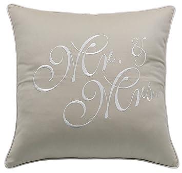 Amazon.com: YugTex - Funda de almohada bordada para boda ...