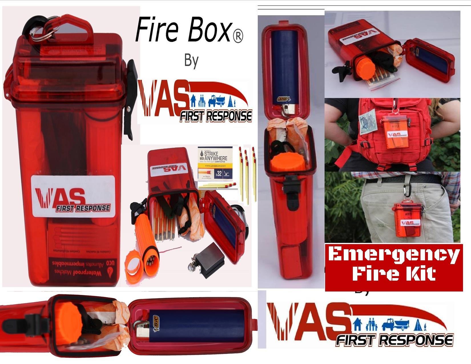 Vas Fire Box Emergency Fire Starting Kit In A Waterproof