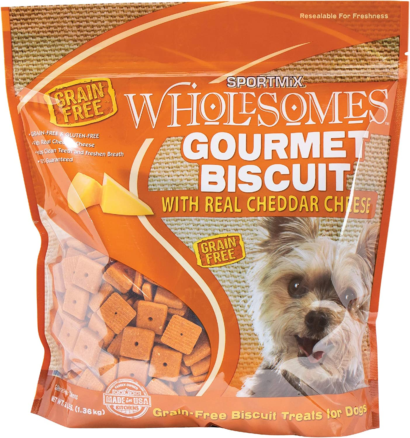 SPORTMiX Gourmet Biscuit with Natural Bone Charcoal Dog Biscuit Treats