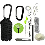 Paracord 550 Grenade Survival Kit Keychain with Carabiner by Survival Frog