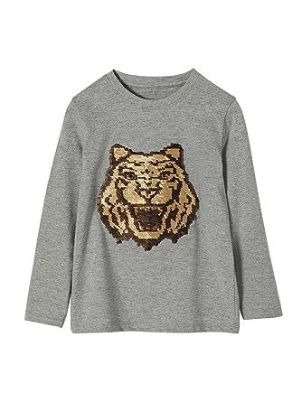 84827cbef VERTBAUDET Camiseta niño con Lentejuelas fantasía  Amazon.es  Ropa y  accesorios