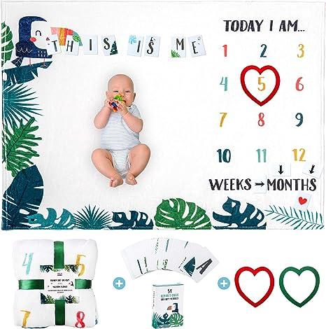 Manta de bebé hito mensualespara Niño o Niña Manta de bebé Unisexmes