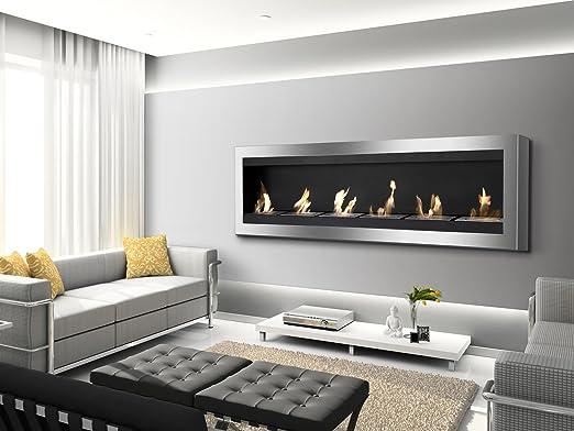 Amazon.com: Ignis Maximum Wall Mount Ventless Ethanol Fireplace ...