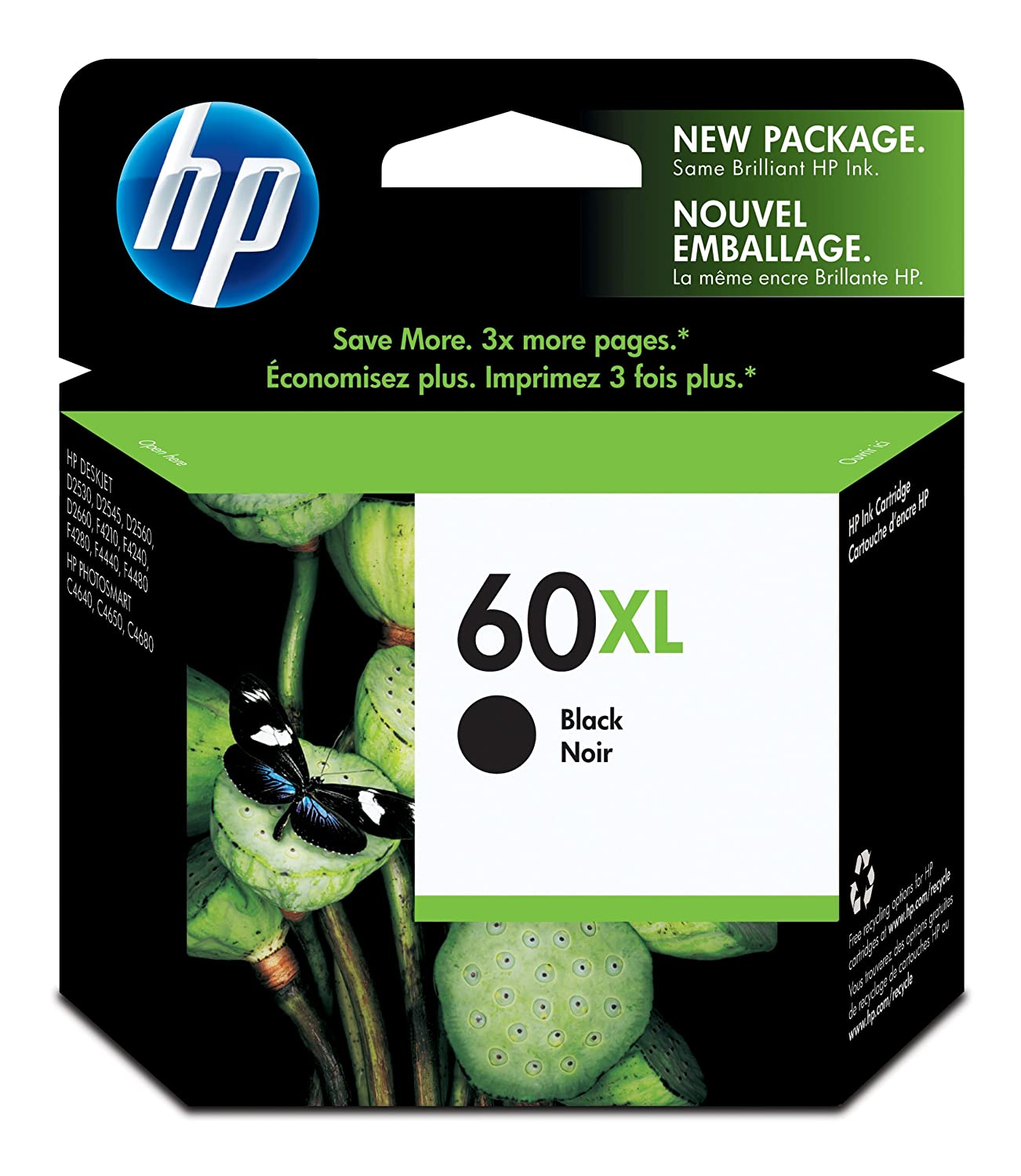 Amazon hp 60xl black high yield original ink cartridge amazon hp 60xl black high yield original ink cartridge cc641wn office products fandeluxe Gallery