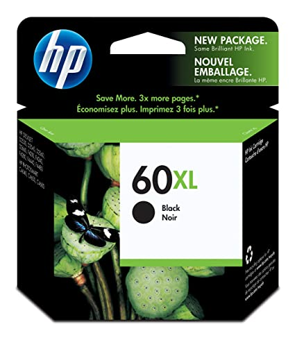 Amazoncom HP 60XL Black High Yield Original Ink Cartridge CC641WN