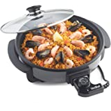 VonShef Multi Cooker | Electric Frying Pan with Glass Lid, 30cm Non-Stick Surface and Cool Touch Handles | 1500W