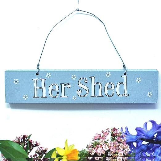 Angelic Hen Her Shed - Cartel para Colgar en el Exterior ...